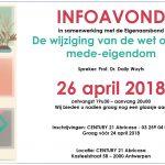 GRATIS INFO-AVOND OP 26 APRIL 2018